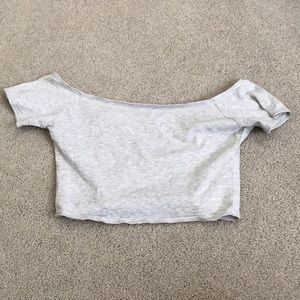 Hollister small grey crop top